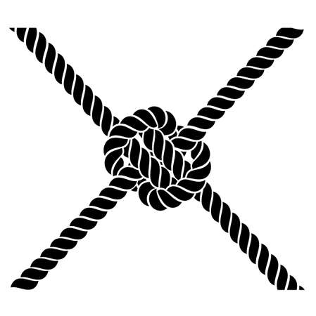rope knot on a white background 일러스트