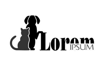 Chat et chien symbole de la médecine vétérinaire Banque d'images - 31725123