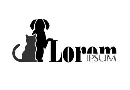 veterinaria: gato y perro símbolo de la medicina veterinaria