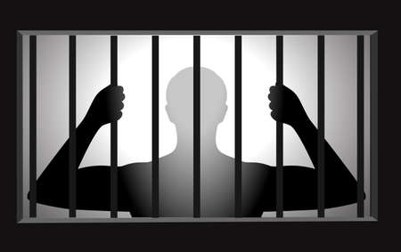 arrested: silhouette of the person in the conclusion