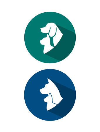 Pets icon on white background