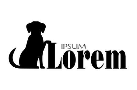 beagle puppy: silueta de un perro con un lugar para su texto