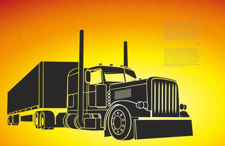 het tekenen van de vrachtwagen die een lading