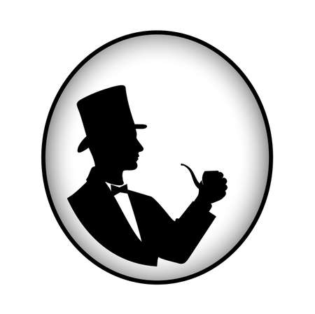 gothic design: gentleman with a pipe Illustration