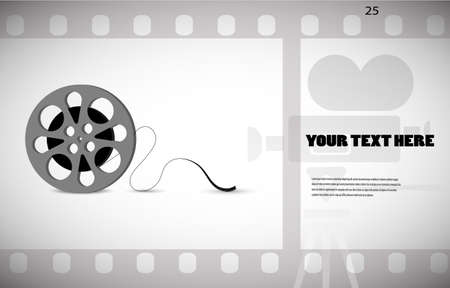 clap board: cine-film in the frame vector background