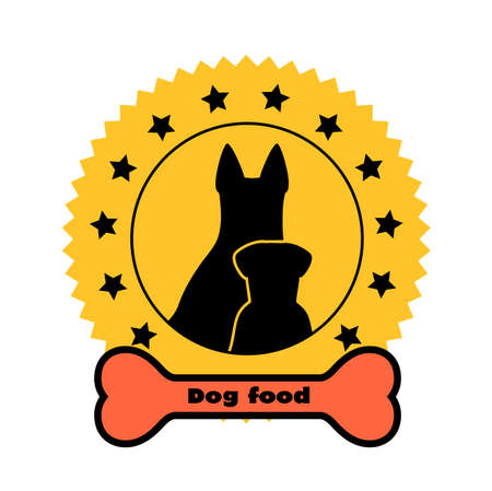 symbol of healthy food of animals Vector