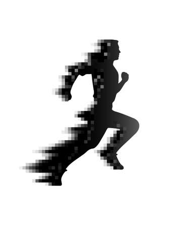 athlete the leaving pixel trace Vector