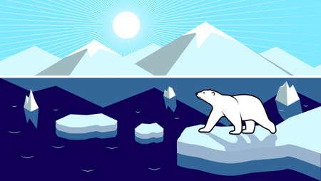 Polar landscape panorama