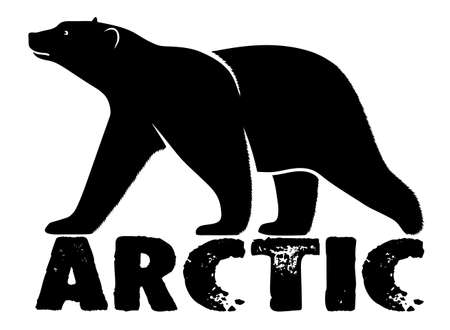 polar bear symbol Arctic Illustration