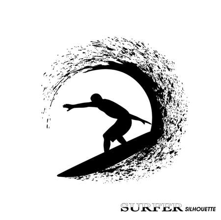 surfer silhouette: surfer silhouette