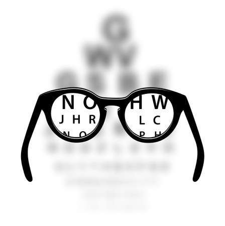 Optometrie medische achtergrond Stock Illustratie