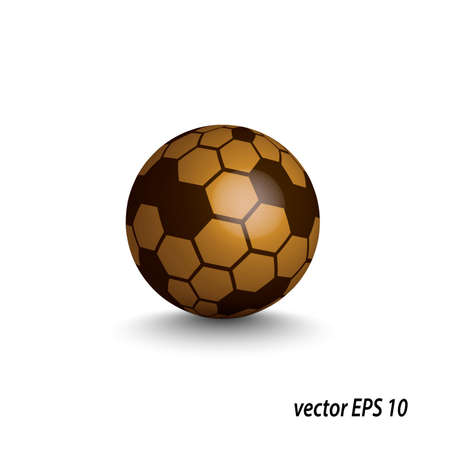 Abstract glossy sphere Vector