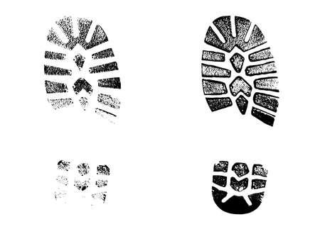 print footwear trace Stock Illustratie