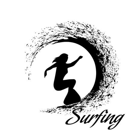 silhouettes of surfers Imagens - 35370004