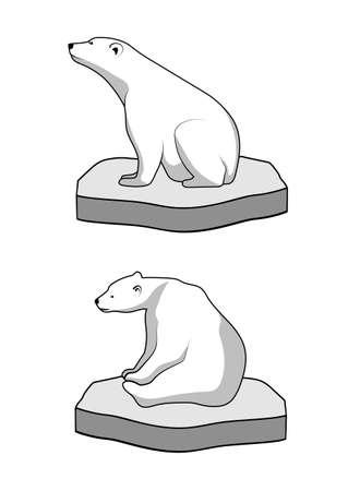 floe: polar bear on an ice floe