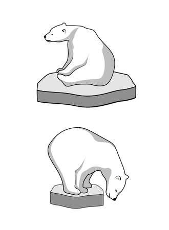 Eisbär auf einer Eisscholle Standard-Bild - 35516947