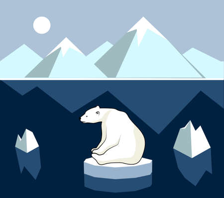 environmental issue: Polar landscape panorama