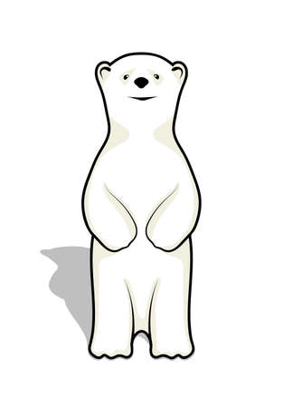 cub: illustration of a bear cub of a polar bear