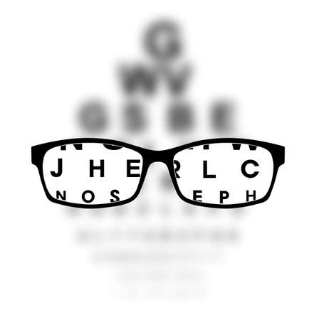 Optometry medical background Stock fotó - 35834478