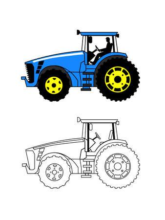 summer tires: tractor sobre un fondo blanco
