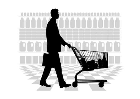 grocery store: person making purchases