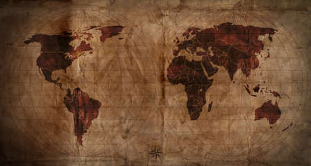 oversea: old map Stock Photo