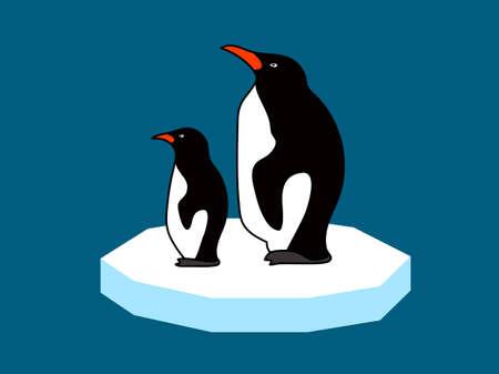 floe: penguins on an ice floe