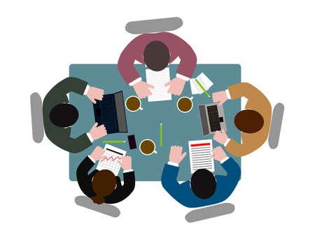요약보고: 테이블 상위 뷰에있는 사람들