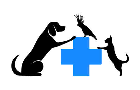 animal silhouette: symbol of veterinary medicine