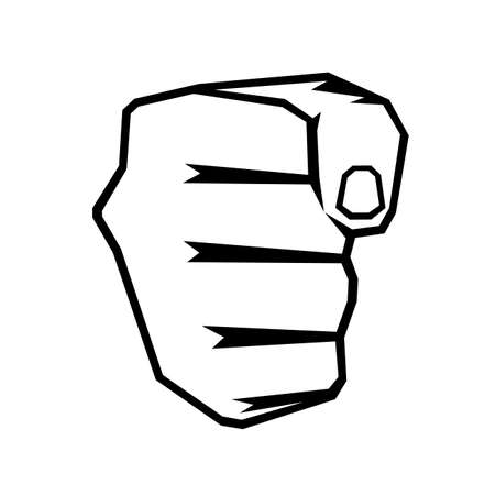 fists: icon a fist on a white background