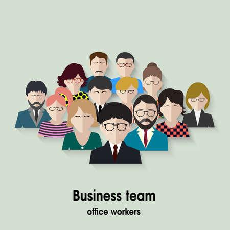 team working: squadra di affari. gruppo di impiegati.