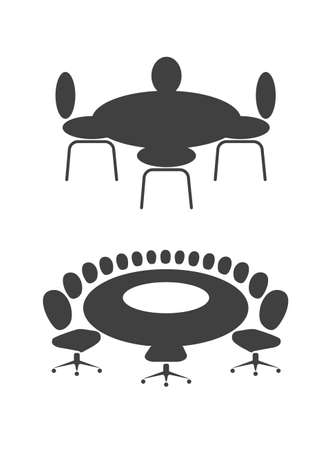 round chairs: table for business meetings