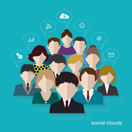 social networks: social networks communication people Internet