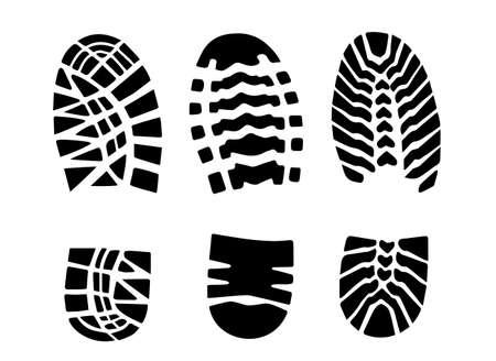 footwear: print footwear trace Illustration