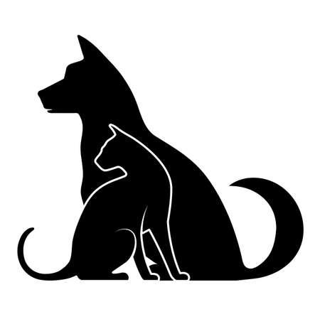 silueta gato: icono de mascotas
