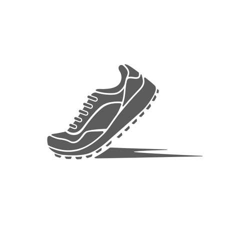 corriendo: zapatos de iconos deportivos de la din�mica