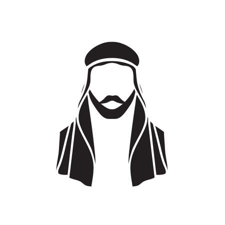 sheik: icon Arab sheikh
