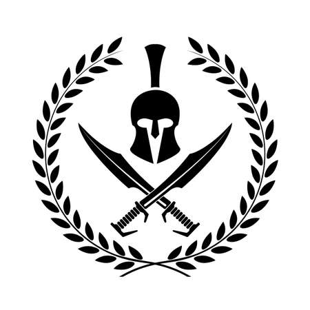 Spartan helmet icon symbol of a warrior