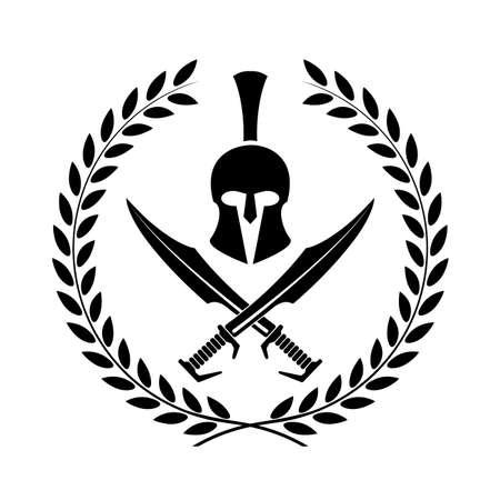 Spartaner Helm Symbol Symbol eines Kriegers Illustration