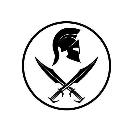 Spartan helmet icon symbol of a warrior Stock Vector - 38663390