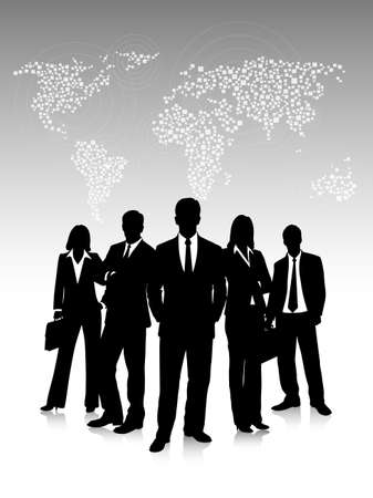 business communication: Business people , social networks communication people Internet