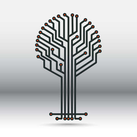 electronic board: electronic board in the form of a tree