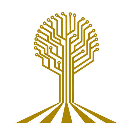 pcb: electronic board in the form of a tree