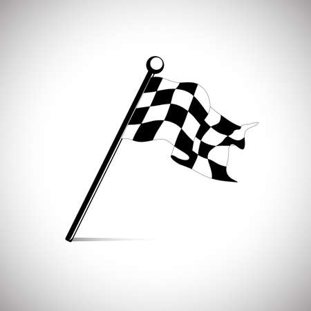 racing checkered flag crossed: flag for the start finish line racing Illustration