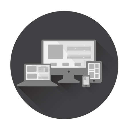 adapt: icon the monitor the smartphone information technologies.