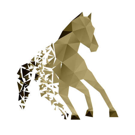 farm animal: running horse from the collapsing grounds Illustration