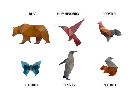 poligonos: conjunto de animales de polígonos