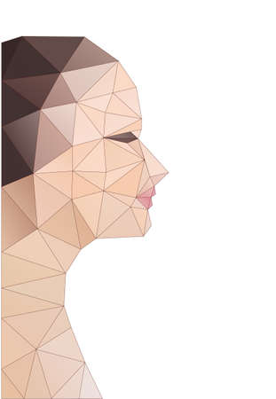 mesh texture: Head of polygons. Abstract form of human Illustration