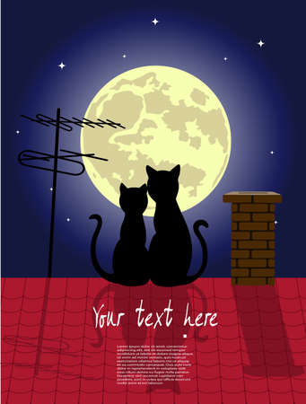 roof light: cats in love