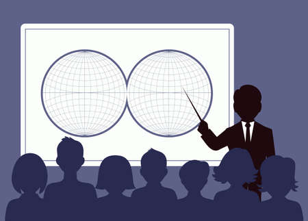 presentation. business conference. business people Vector